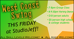 West Coast Swing This Friday